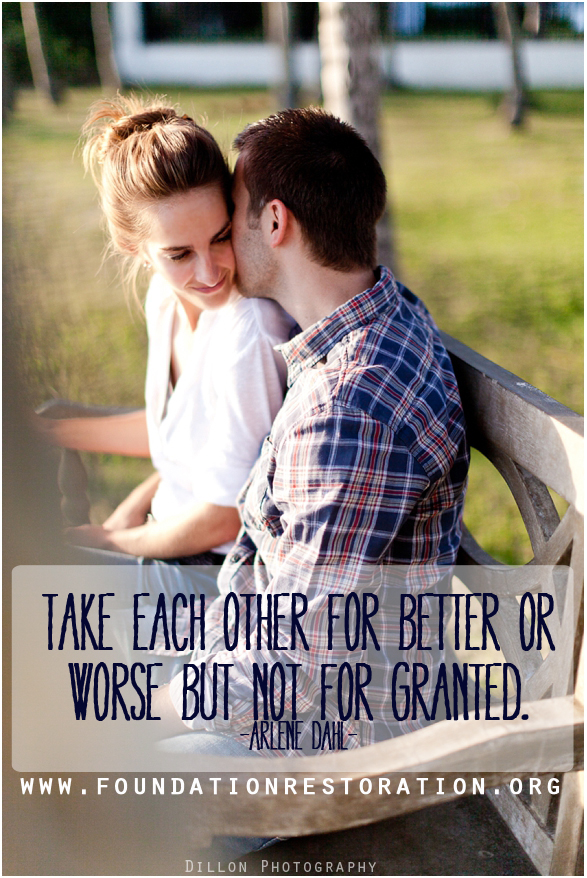 take each other for granted